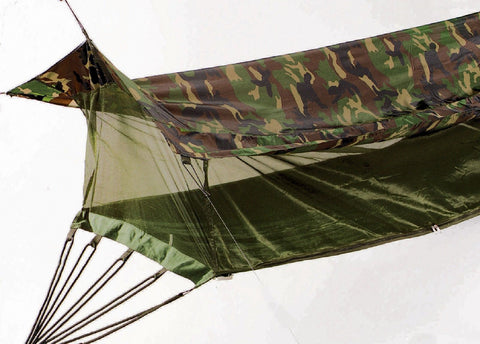 Hammocks - Woodland Camo Jungle Hammock - Secure,Easy Elevated Shelter,Anti-Bug