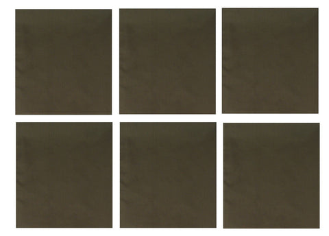 "6 PACK Dark Green Bandanas Six LARGE 27"" Cotton BIG Biker Olive Drab Headwraps"