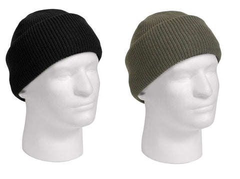 Black G.I. Gov't Issue 100% Wool Watch Cap with GORE-TEX Membrane Made in USA