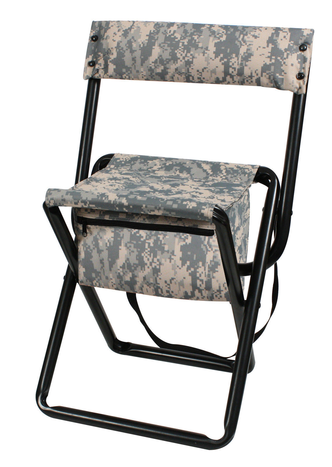 Deluxe Camouflage Folding Chairs With Pouch Woodland Or ACU / Hunting U0026  Camping