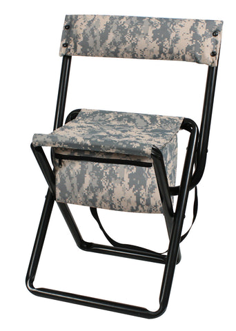 Deluxe Camouflage Folding Chairs With Pouch Woodland Or ACU / Hunting U2013  Grunt Force