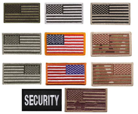 USA Military American Flag Morale Patch with Velcro Backing