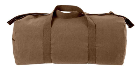 Earth Brown Shoulder Bag Large Heavyweight Canvas Duffle Gym Sports Gear 2243