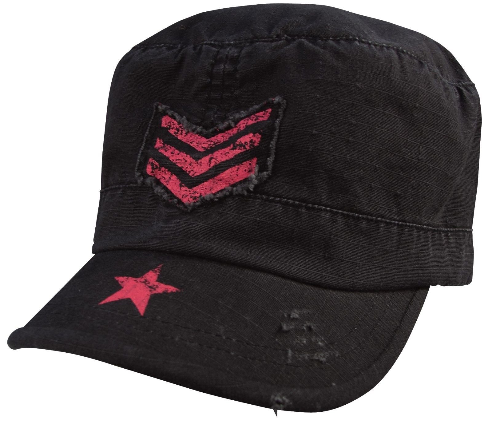 e98e75bf9f2 Women s Vintage Military Caps - Womans Adjustable Fatigue Hats - Rip ...