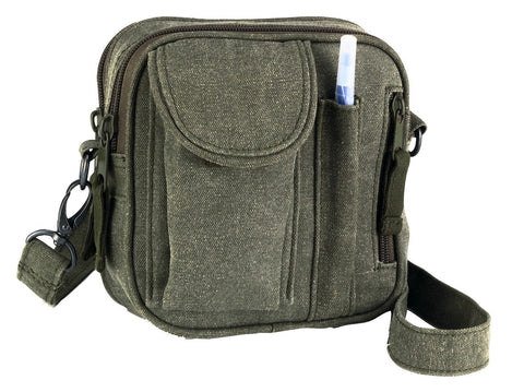 Green Organizer Bag - Classic Excursion Travel Organizer Shoulder Pack Bags