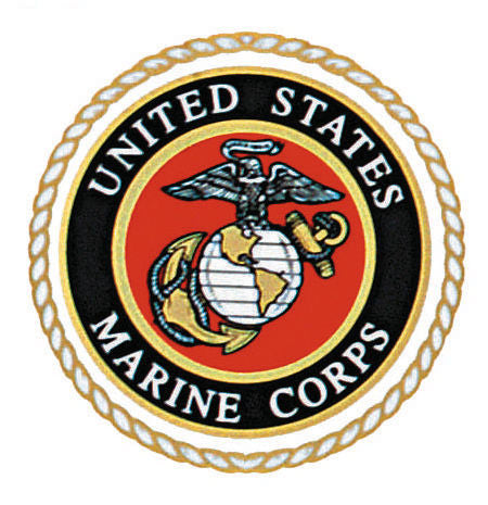 U S Marines Seal Window Decal Grunt Force