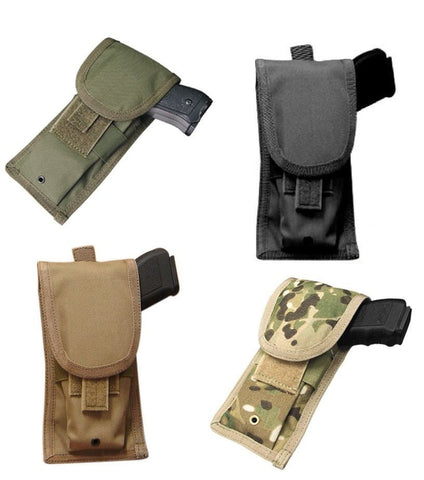 Condor MA10 Pistol Pouch MOLLE Tactical Holster Fits Most Pistols MultiCam, Tan