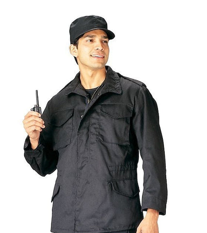 Rothco Black M-65 Field Jacket with Removeable Liner