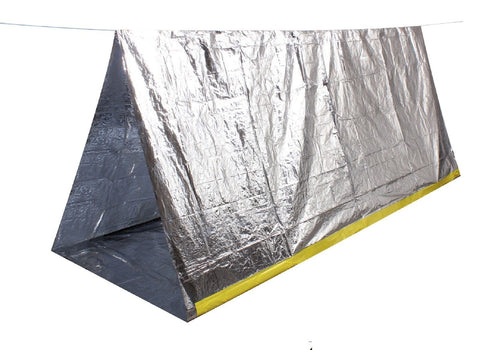 Survival Tent Emergency Heat Reflective Lightweight 2 Man Camping Shelter