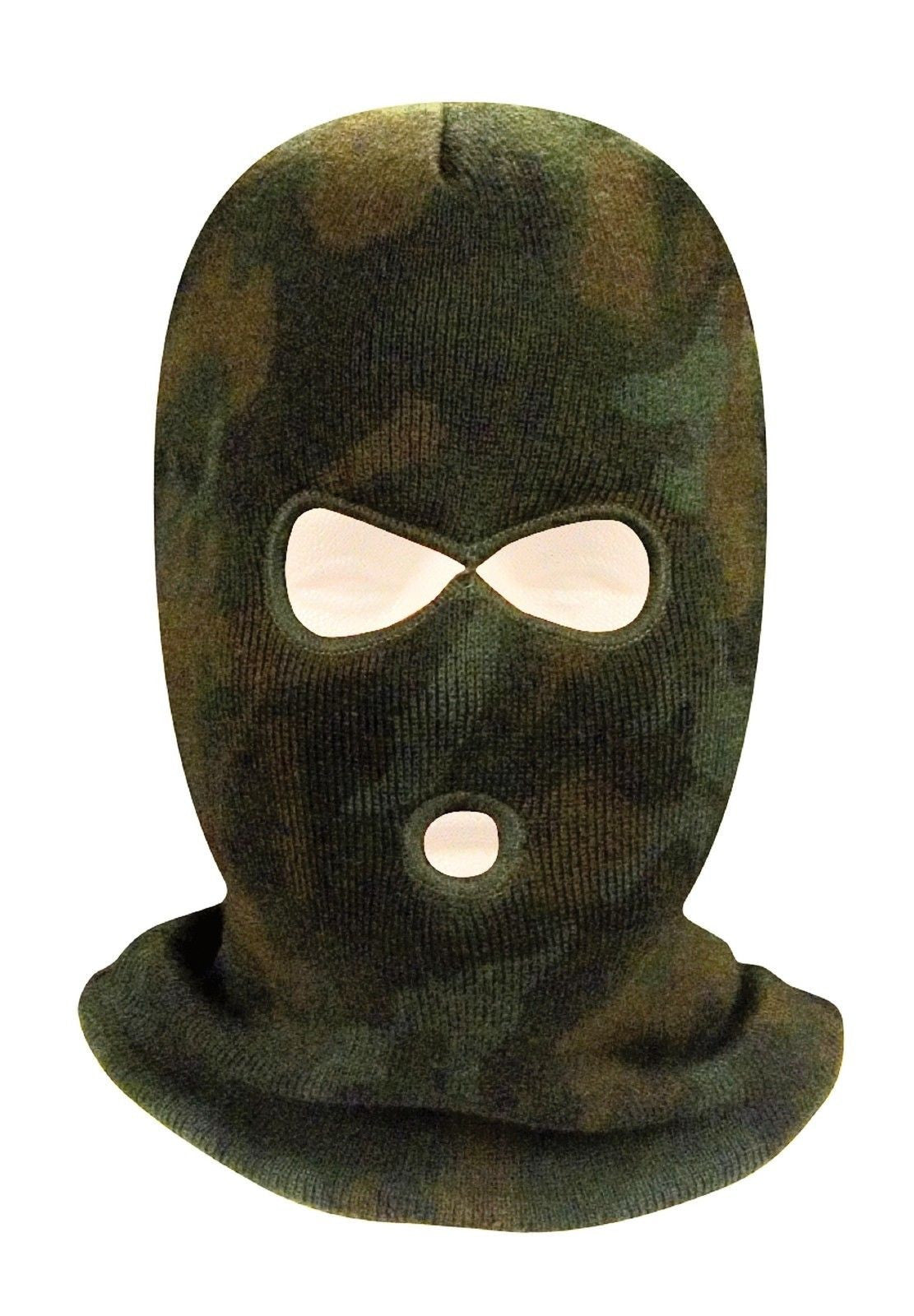 df7263abb96 3 Hole Face Mask Ski Mask Winter Cap Balaclava Hood Army Tactical Mask USA  MADE Black Coyote Brown Foliage Green Olive Drab Woodland Camouflage