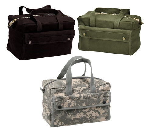 Mechanics Tool Bags Heavyweight Canvas - Military Camo Tool Bag Black, OD, ACU
