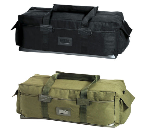 Heavyweight Canvas Duffle Bag - Black OD Military Israeli Tactical Gear Bags