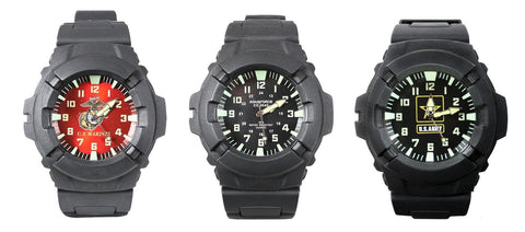 Aquaforce Military Combat Watch USMC Marines Army Logo Luminous Wristwatches