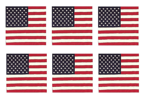 "American Flag Bandana 6 PACK USA Flag BANDANAS 22"" Cotton Biker Dog Scarf ALL 6!"