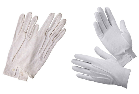100% Cotton White Parade Marching Band Gloves Tuxedo Waiter Formal Wear