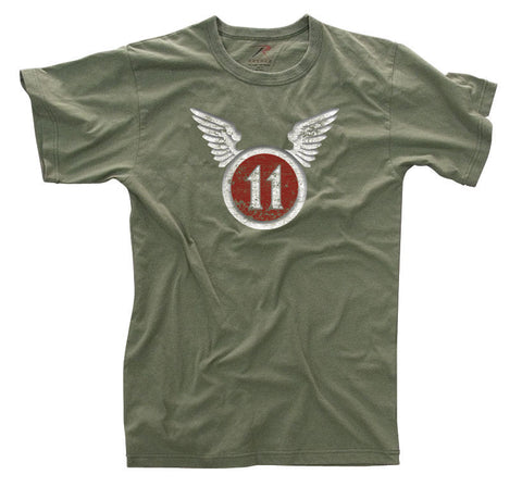 "Vintage ""11th Airborne"" Olive Drab T-Shirt"