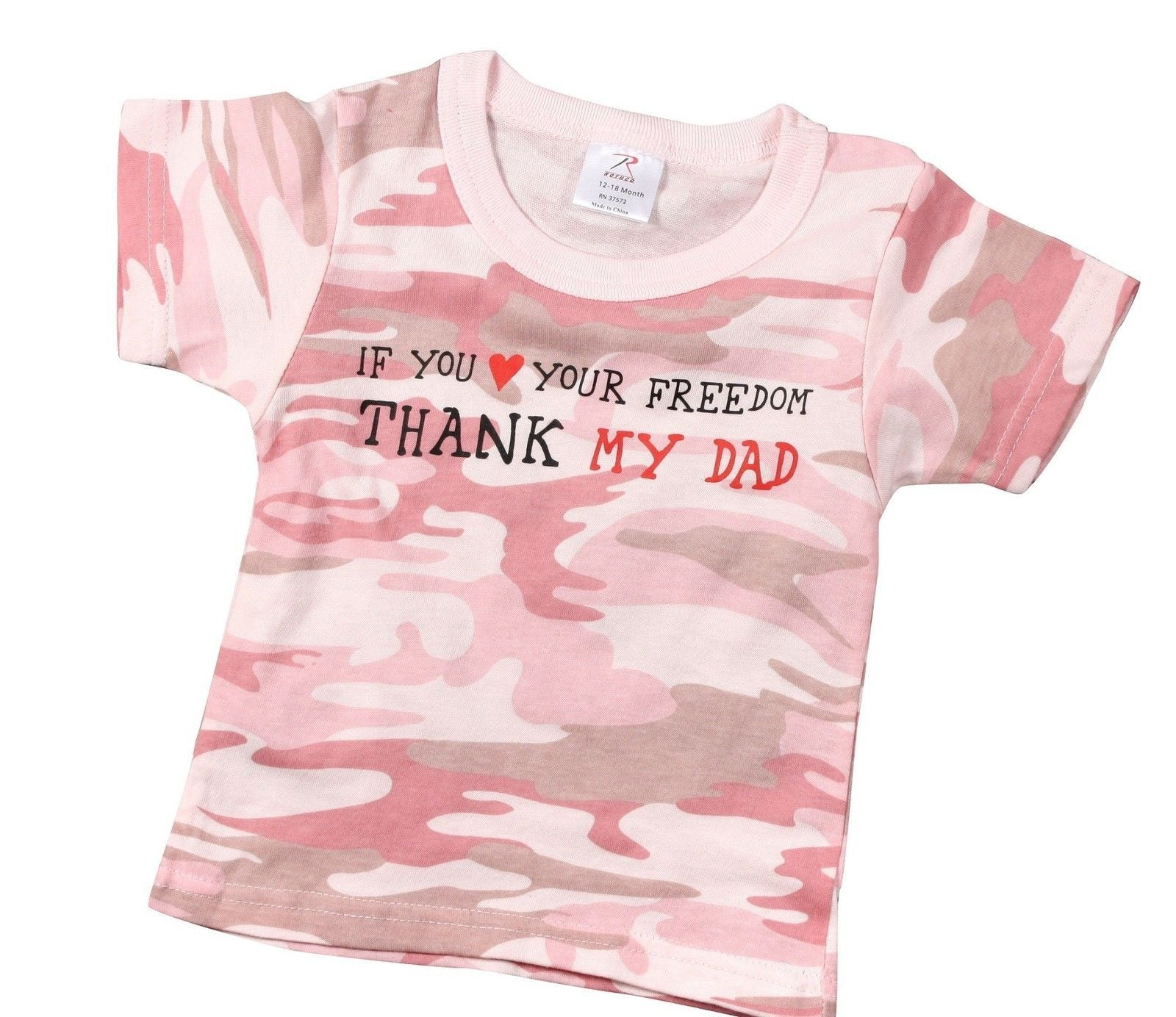 47552cb19fe9 Baby Camouflage Shirt T-Shirt Infant Clothing Tee Rothco Pink or ...