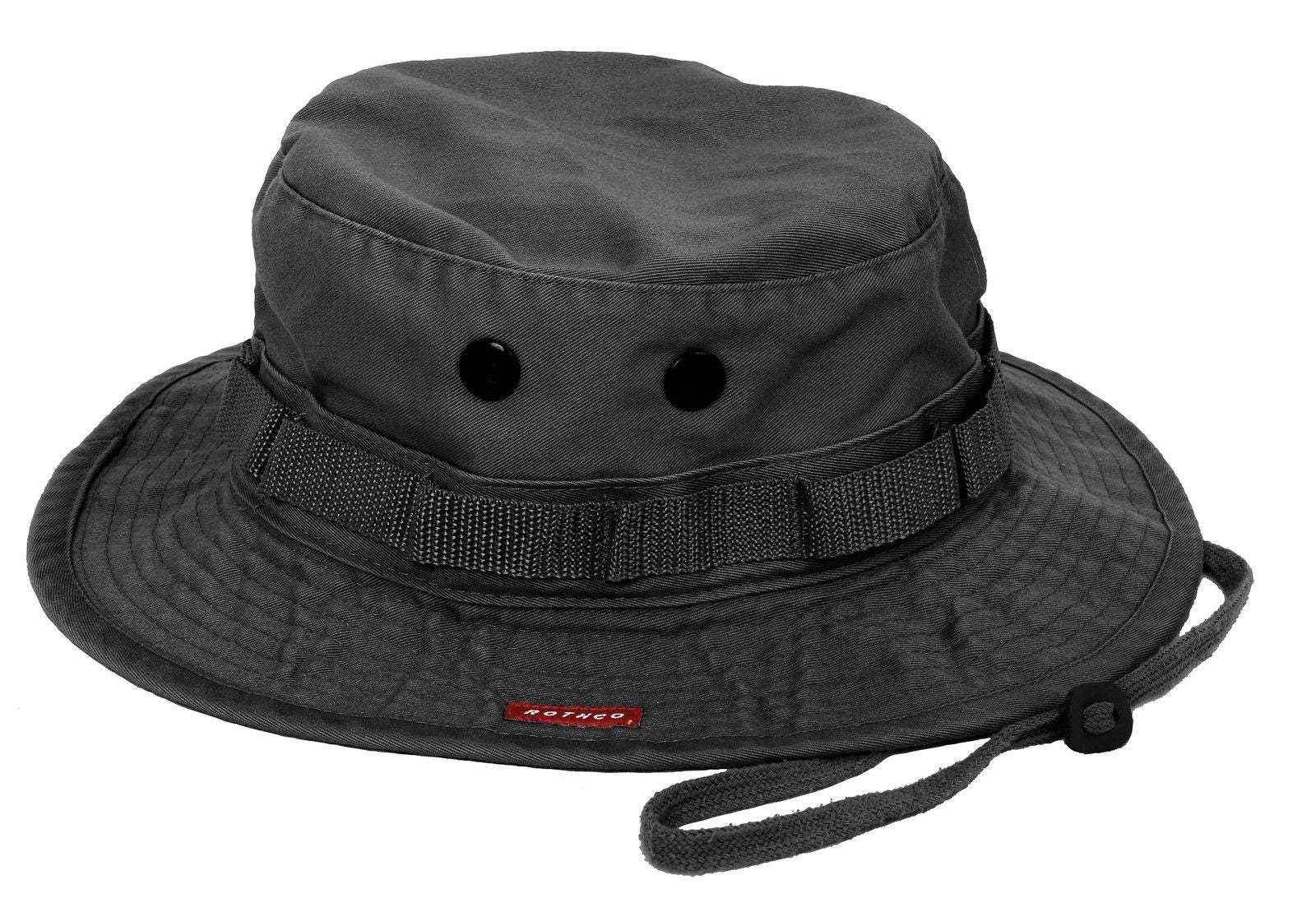 451e925bb6c0e Military Boonie Hat - Vintage Black Breathable Camping