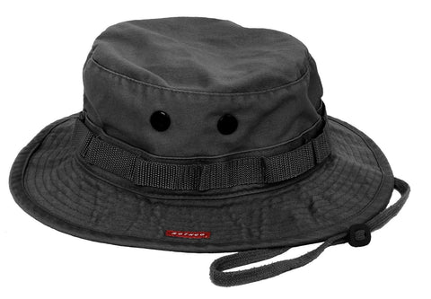 fecfba34d92 Military Boonie Hat - Vintage Black Breathable Camping