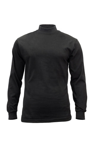 Black Mock Turtleneck - Great for Law Enforcement Police or Security