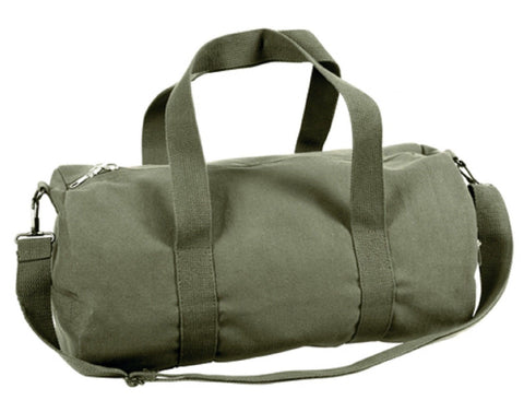 Olive Drab Green Shoulder Bag Classic Casual Canvas Duffle Gym Gear Workout Bag