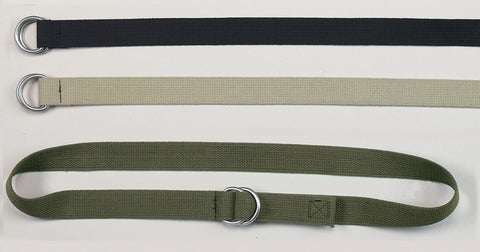 Military D-Ring Expedition Belt - Black, Khaki, Olive Drab