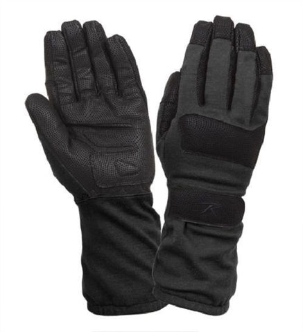 Fire Resistant Black Gloves - Griplast Military Tactical Fireman Work Glove