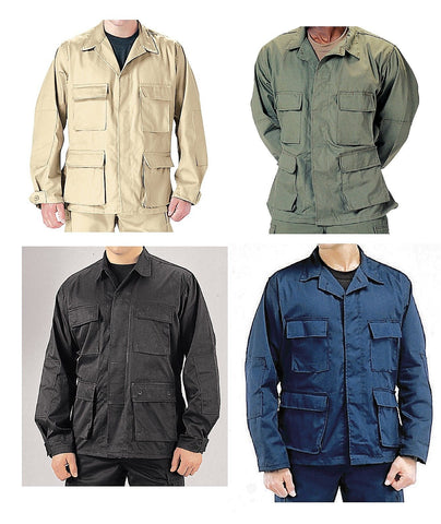 Military B.D.U. Rip-Stop Shirts - BDU RipStop Shirt Tops - Battle Dress Uniform