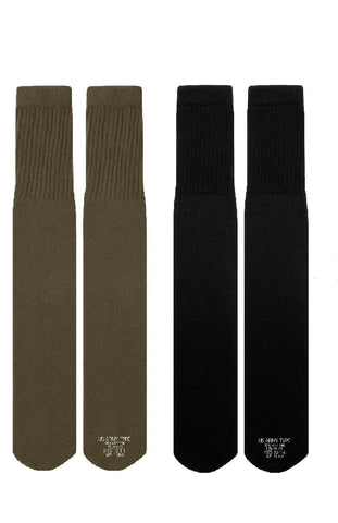 G.I. Style Tube Socks Available In Olive Drab Or Black - Made In U.S.A.