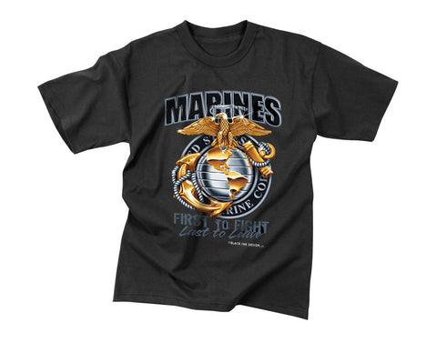 "Black Ink - ""Marines"" Globe And Anchor T-Shirt"