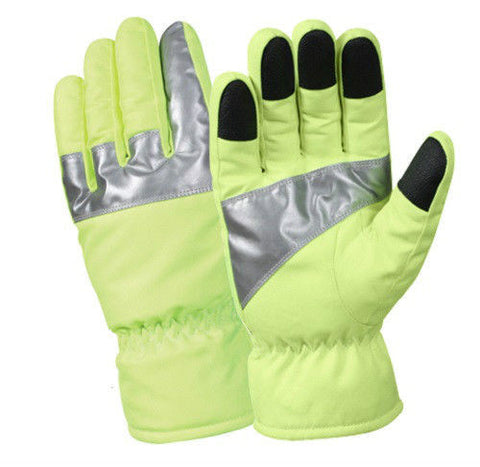 Safety Green Gloves with Reflective Tape