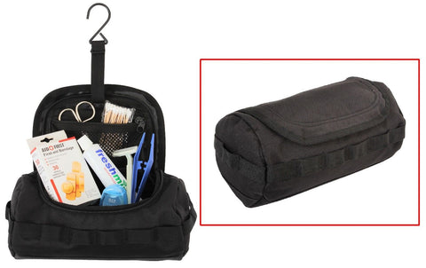 Black Tactical Toiletry Kit - Black Toiletry Travel Bag - Easy and Compact