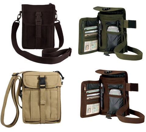 Canvas Travel Portfolio Bag  -Black  Olive Drab or Khaki