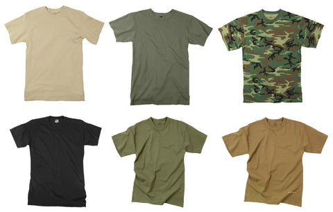 Moisture Wicking Polyester Military T-Shirts Tees Tee Shirts