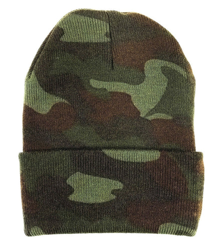 82d531b6b1db6 Deluxe Camouflage Watch Cap Cold Weather Woodland Camo Comfy Winter Sk –  Grunt Force