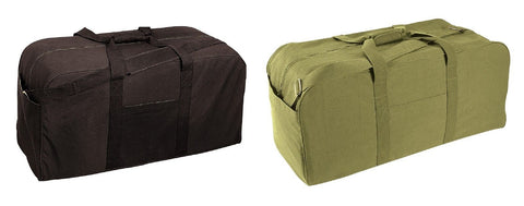 "Gym Bags - Jumbo Cargo Gym & Sports Bag -Heavyweight Canvas 34""x16""x15"" Black/OD"