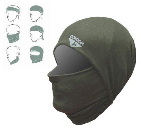 Condor Outdoor Multi-Wrap Face & Neck Protection 212 Multi 6-Way Head Wraps