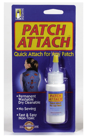 Patch Attach - No Sewing, Bonds To Fabric, Washable, Non-Toxic Patch Adhesive