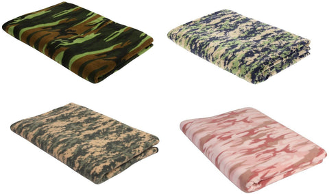 Camouflage Fleece Blankets - Woodland Digital, ACU Digital, Woodland, Baby Pink