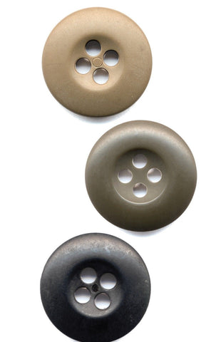 Bag of 100 B.D.U. Buttons - Black Olive or Beige BDU Buttons - 100 Count
