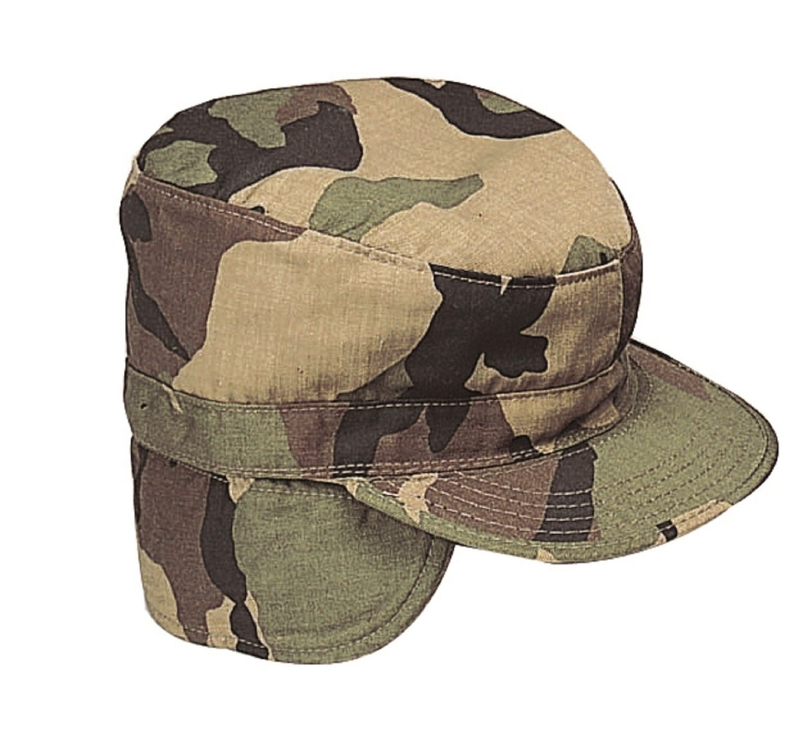 Military Ear Flap Combat Hats Army Style Winter Fatigue Caps w ... 7375c5f6df5