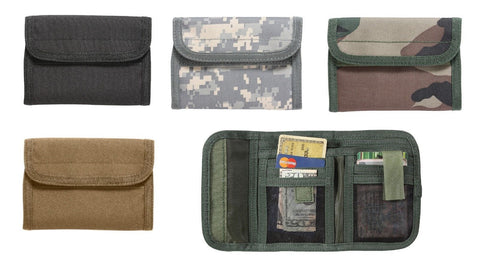 Tri-Fold Wallets - Deluxe Commando ID Wallet w/ 11 Compartments+Badge Holder