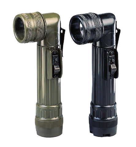 Army Style C-Cell Flashlights w/ Belt Clip, Extra Lenses & Bulb - OD or Black