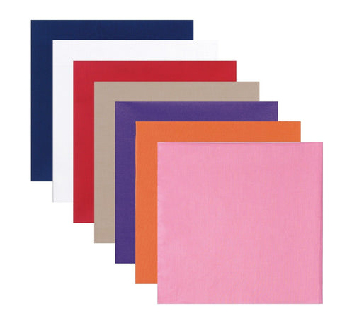 Solid Color Bandanas - Cotton Bandana - Khaki,Red,Blue,White,Orange,Pink Panuelo
