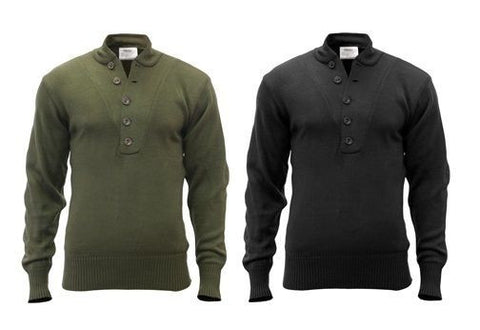GI Style 5 Button Acrylic Sweaters - Vintage Classic Military Apparel