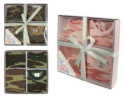 Camouflage Infant Gift Set Package Baby Shower Present Pink or Camo 3-6 Months