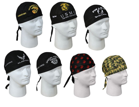 Military Patriotic Headwraps - All Branches - Biker Bandana Do-Rag