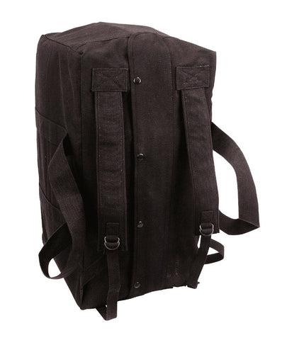 Black Tactical Cargo Bag - Mossad Type Canvas Duffle Bags Equipment Gear Bags