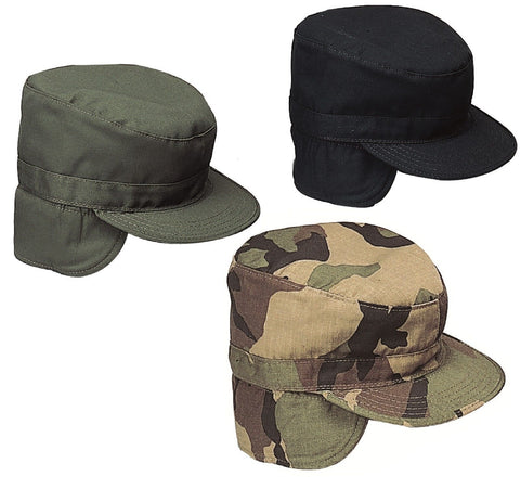 Military Ear Flap Combat Hats Army Style Winter Fatigue Caps w/ Earflaps S-XL
