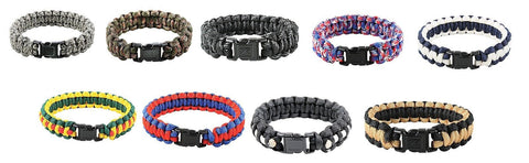 "Paracord Bracelets - Rothco 7-Strand Multi-Colored Paracord Bracelet 7""-10"""